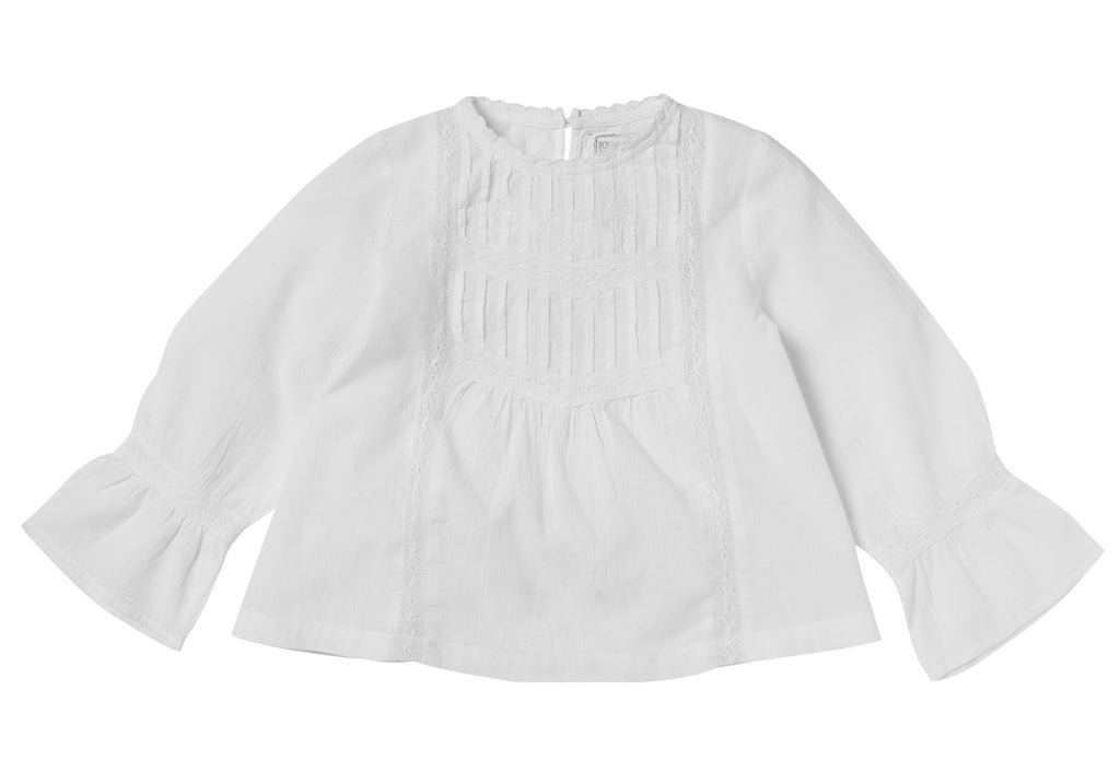 Girls Pauline White Blouse