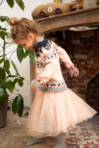 Girls Rosine Pom pom & Pearls Dress