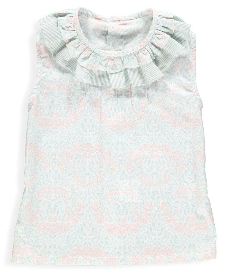 Baby Anabelle Sleeveless Salmon Blouse