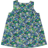 Girls Dress Bergamote Green Blue