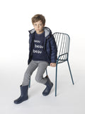 Boys Navy Puffer Jacket