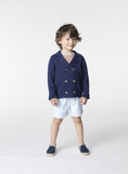 Boys Navy Blue Anchor Cardigan