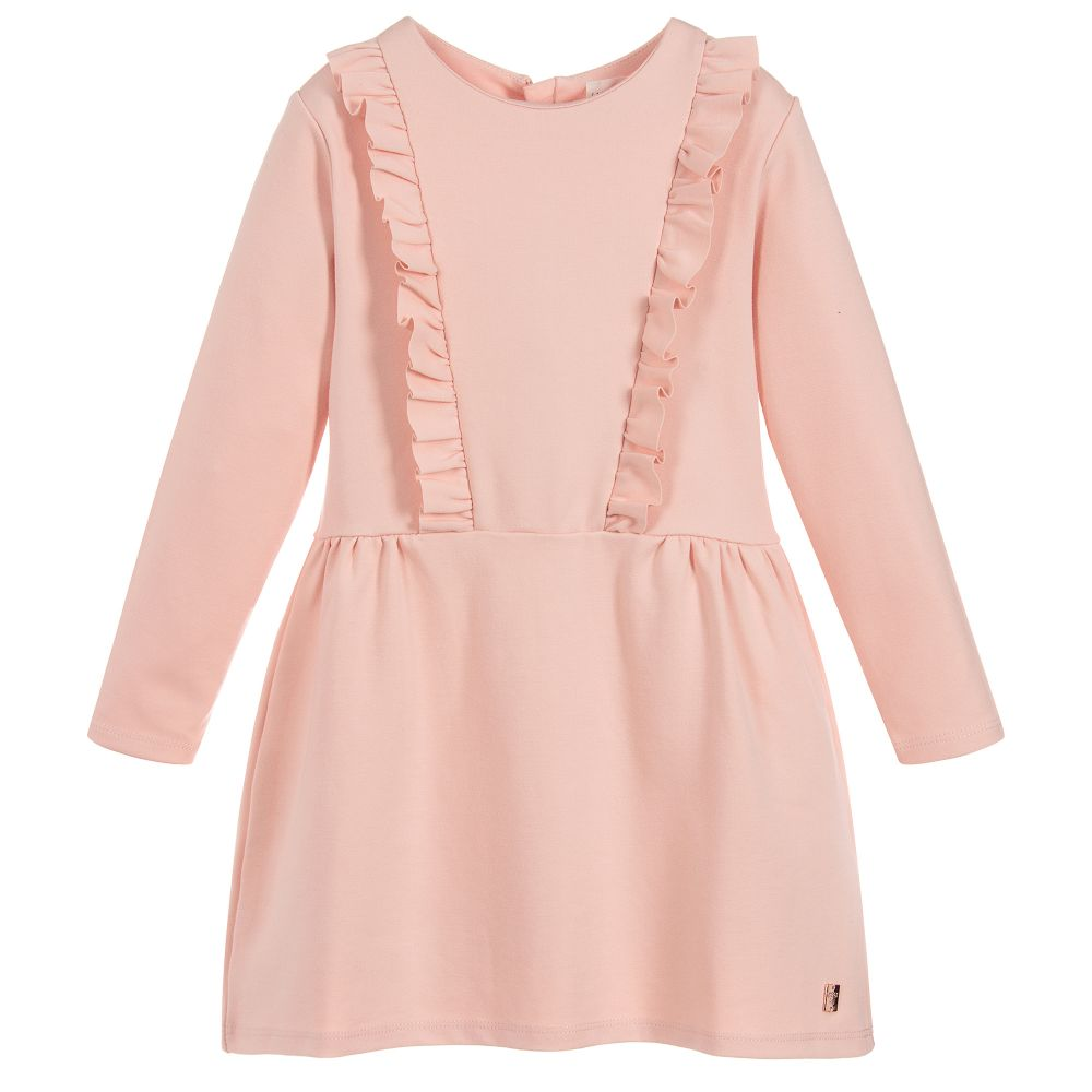 Girls Milano Pink Jersey Dress