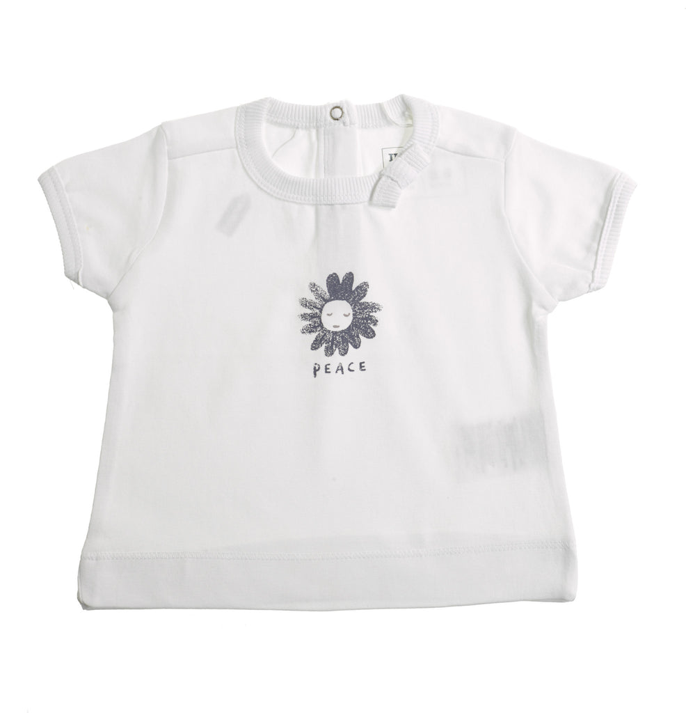 Girls Peace White T shirt
