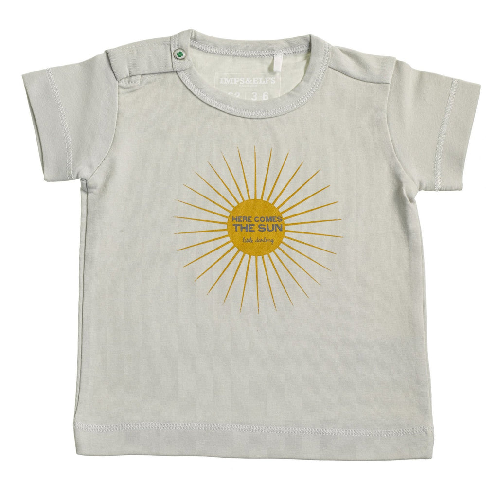 Boys & Girls Organic Sleepy Grey Sun T shirt