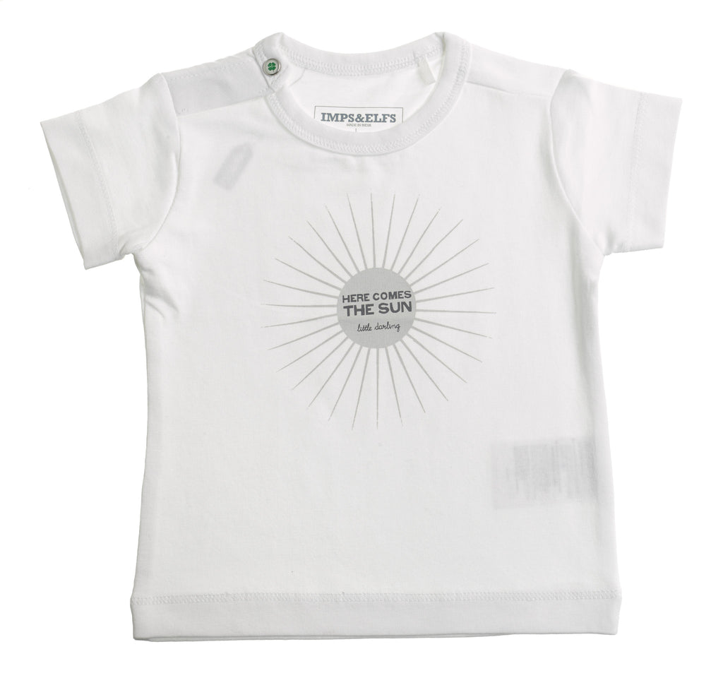 Baby Organic Cotton White Sun T shirt