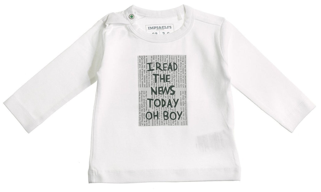 "Baby Organic Cotton ""I read the news"" T shirt"