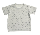 Baby Dog Print T shirt Grey on Grey
