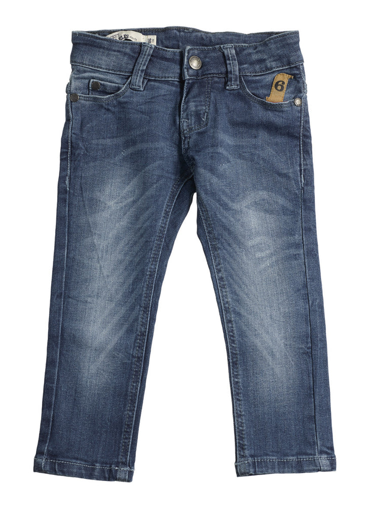 Baby Six pockets Slim Fit Blue Stone Wash Jeans