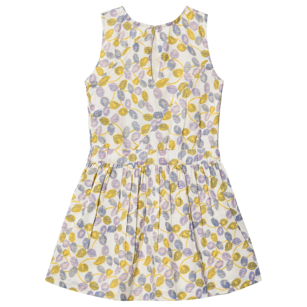 Girls Charlotta Lemon Yellow Dress