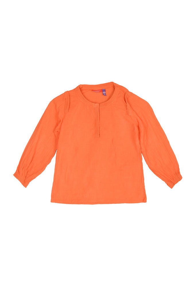 Girls Alma Orange Blouse