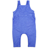 Baby Washed Fleece Short Overall Ocean Blue