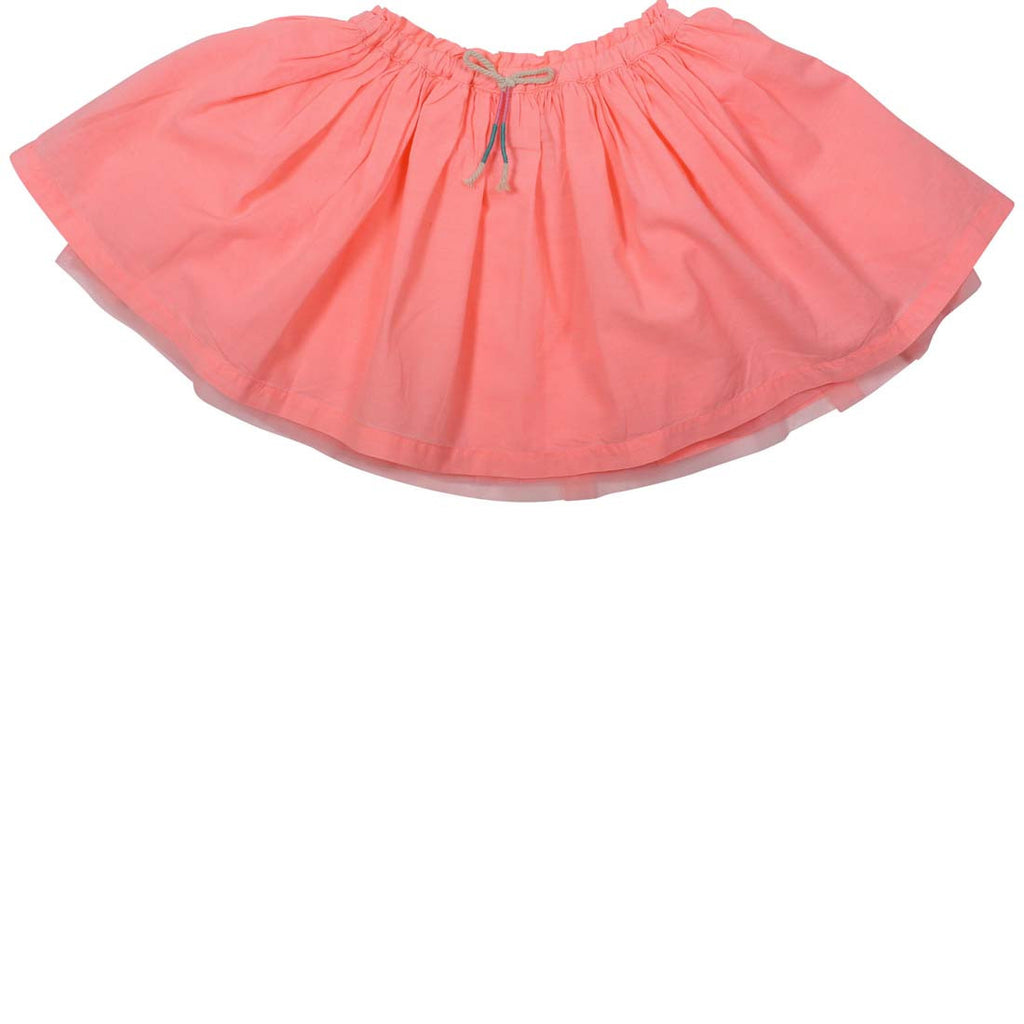 Girls Cotton Mesh Skirt Melon
