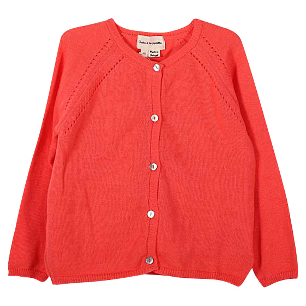 Girls Idrice Coral Cardigan