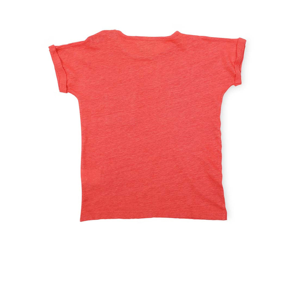 Girls Flamed Linen T shirt