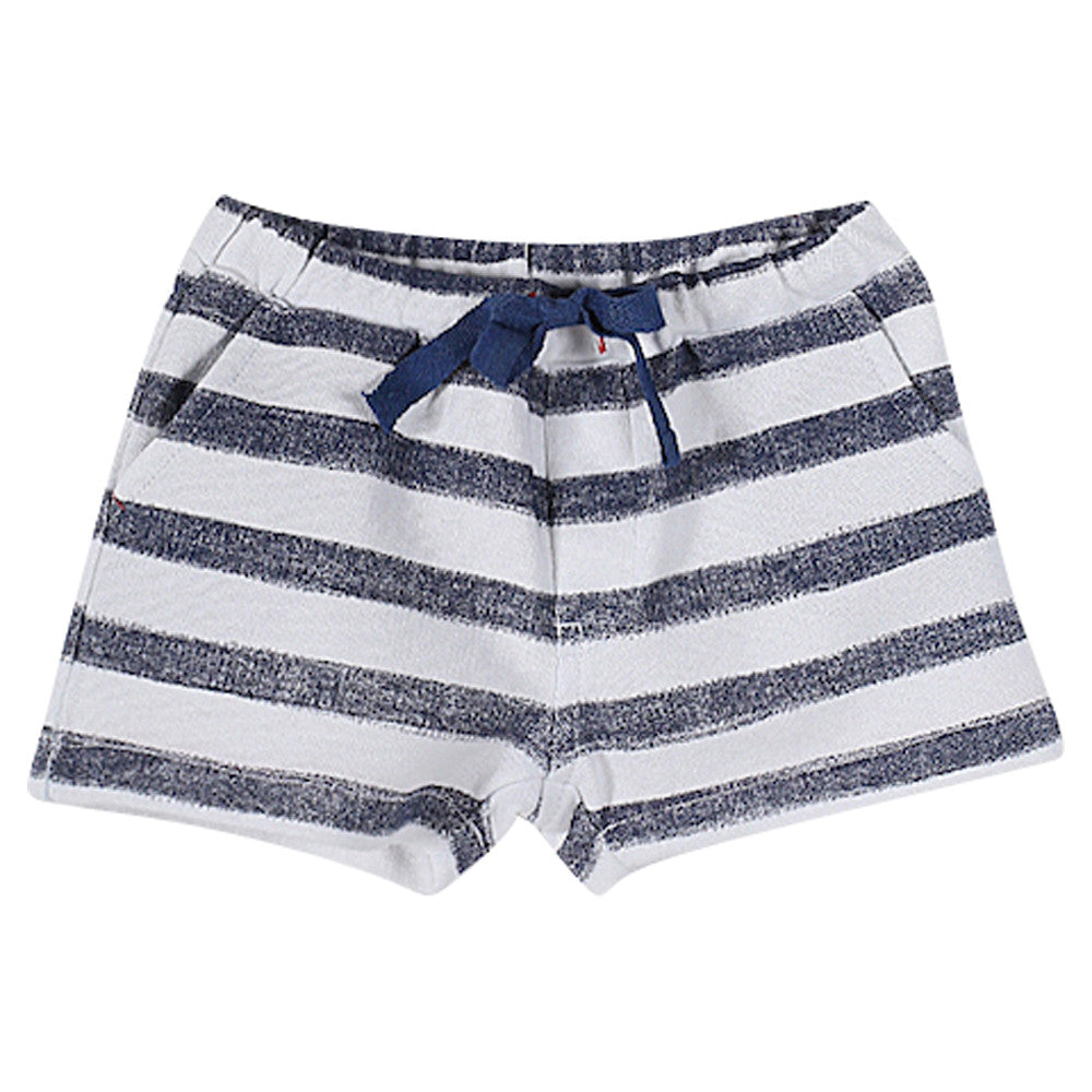 Boys Striped Fleece Bermuda
