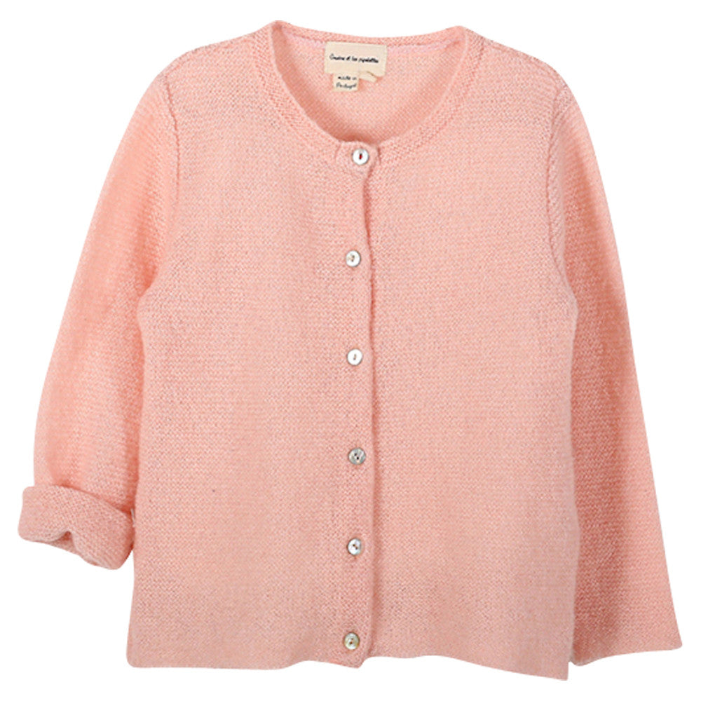 Baby Girl Powder Pink Cardigan