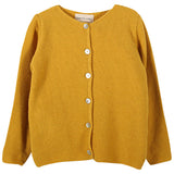 Girls Saffron Rice Stitch Cardigan