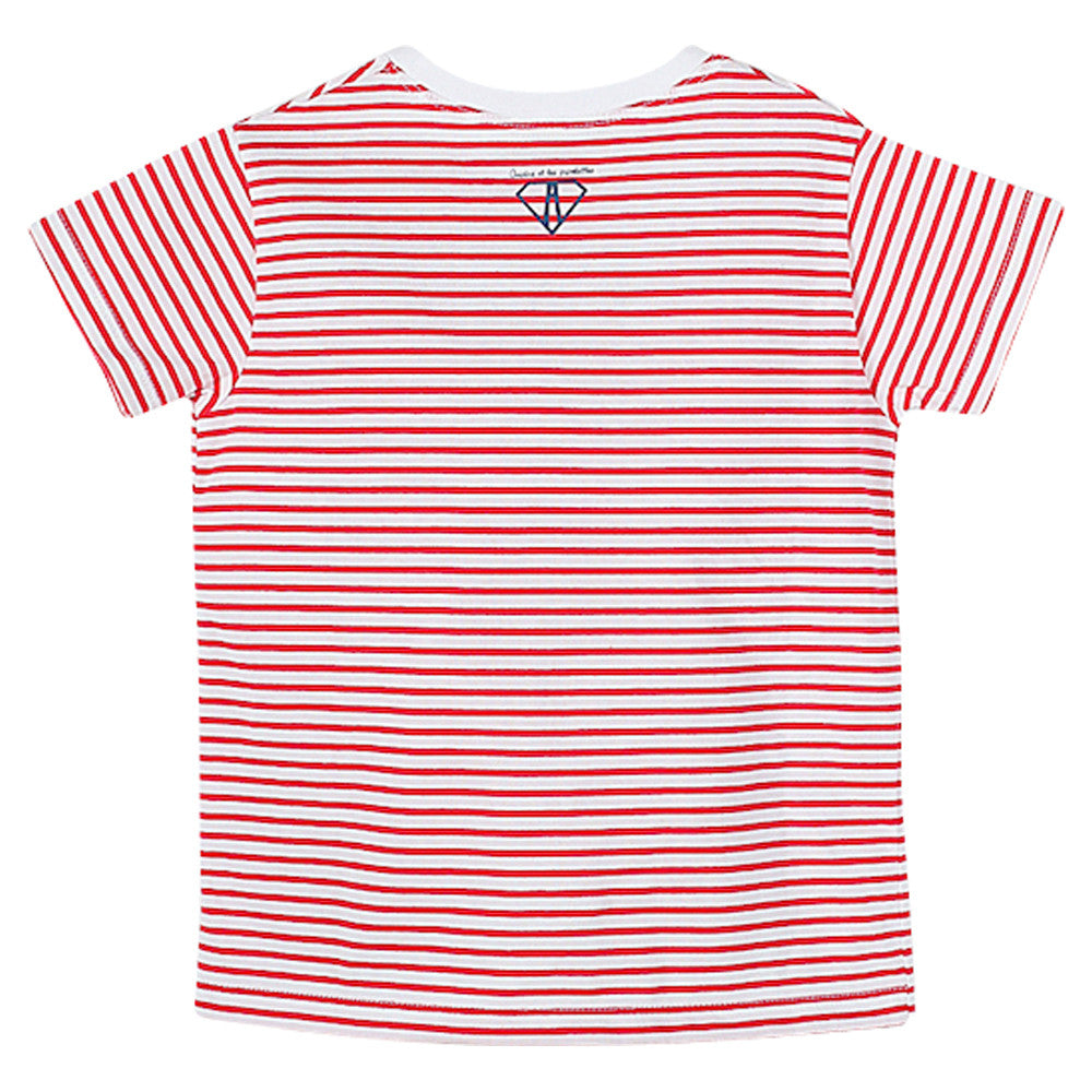 "Boys Red Stripes ""Larguez Les Amarres"" T Shirt"