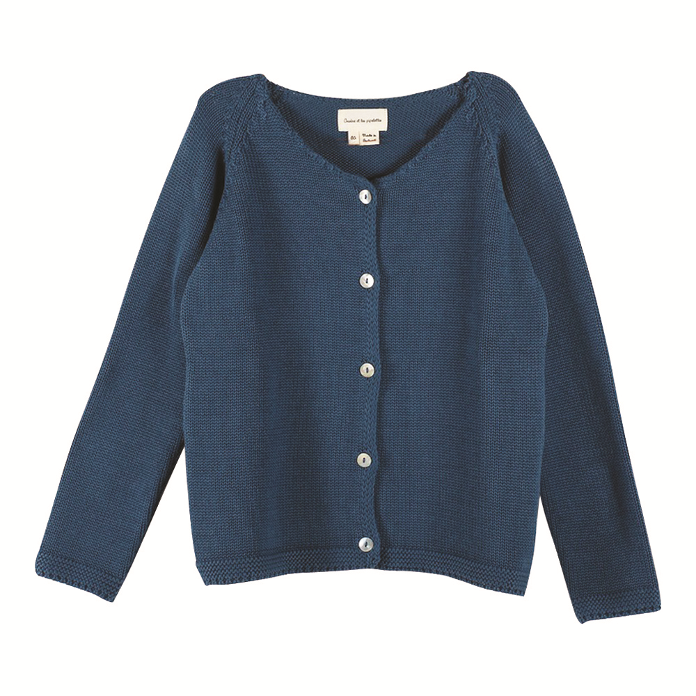 Girls Nami Sage Green Cardigan