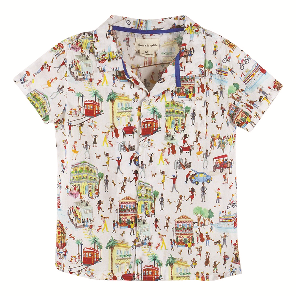 Boys Natty Jazz Print Shirt