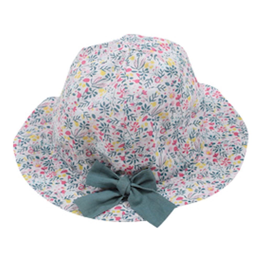 Baby Girl Porcelina Flowers Print Hat