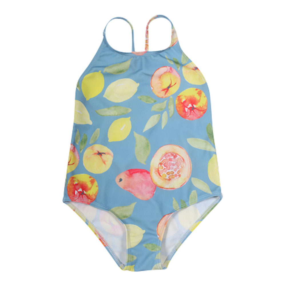 Girls Fruit Print Swimsuit