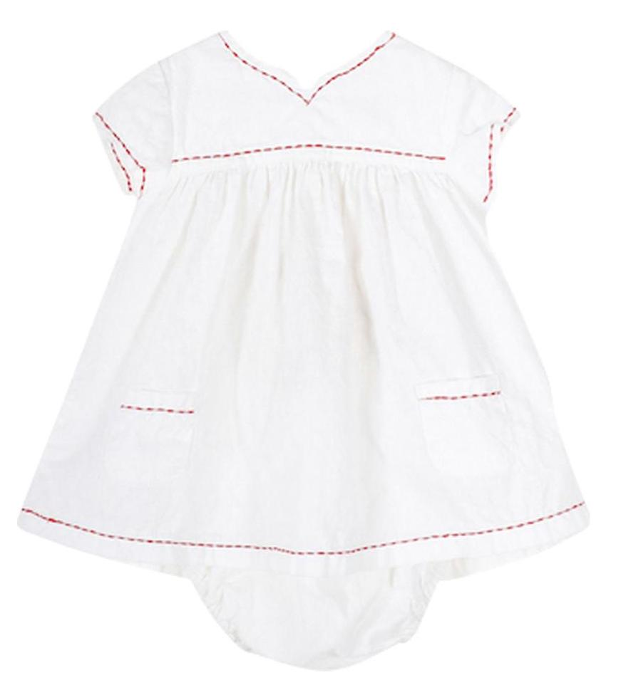 Baby Girl White Polympie Dress