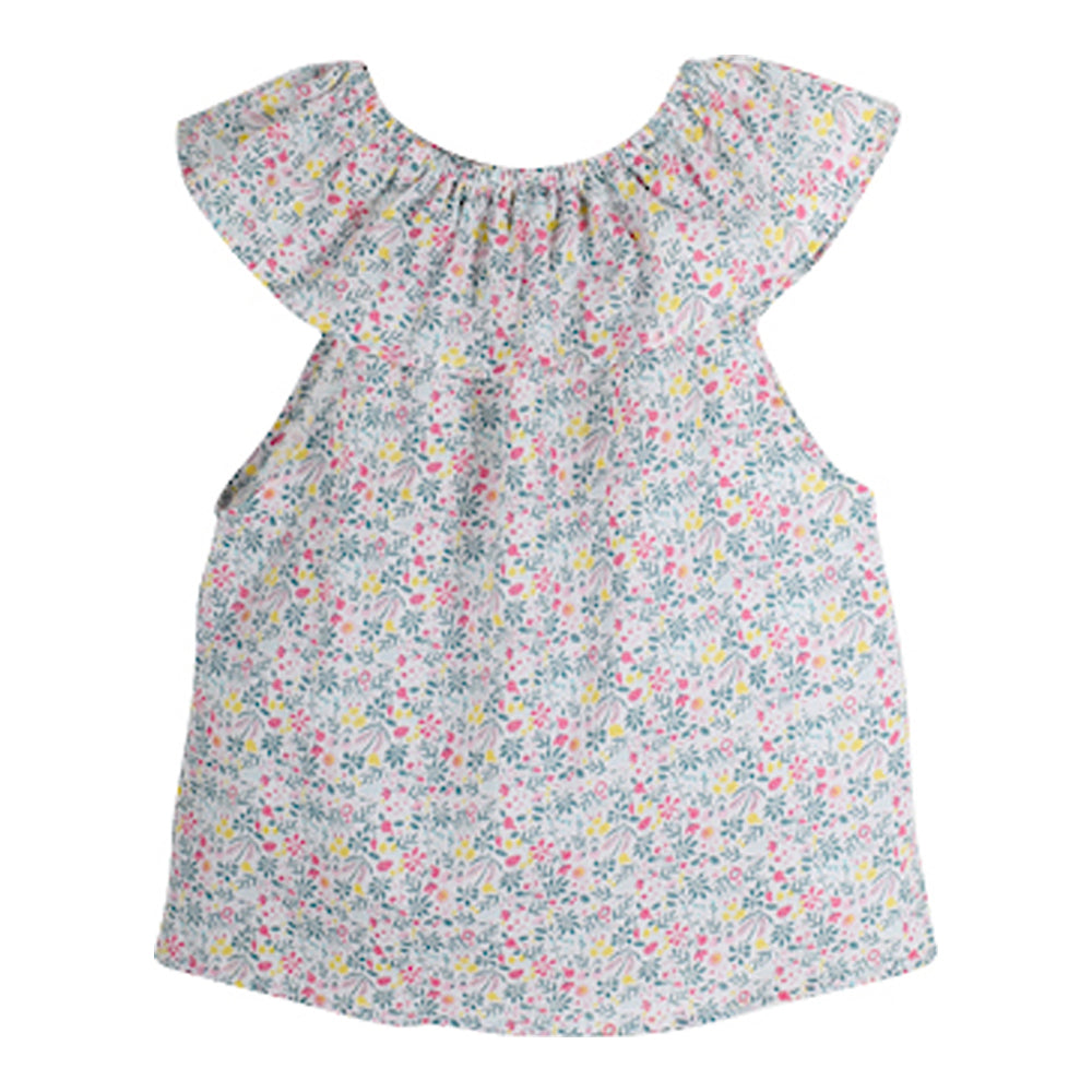 Girls Polinda Flower Print Blouse