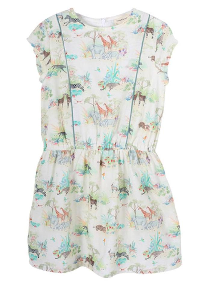 Girls Pombline savanna Print Dress