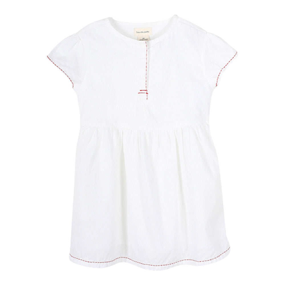Girls White Petronilla Dress