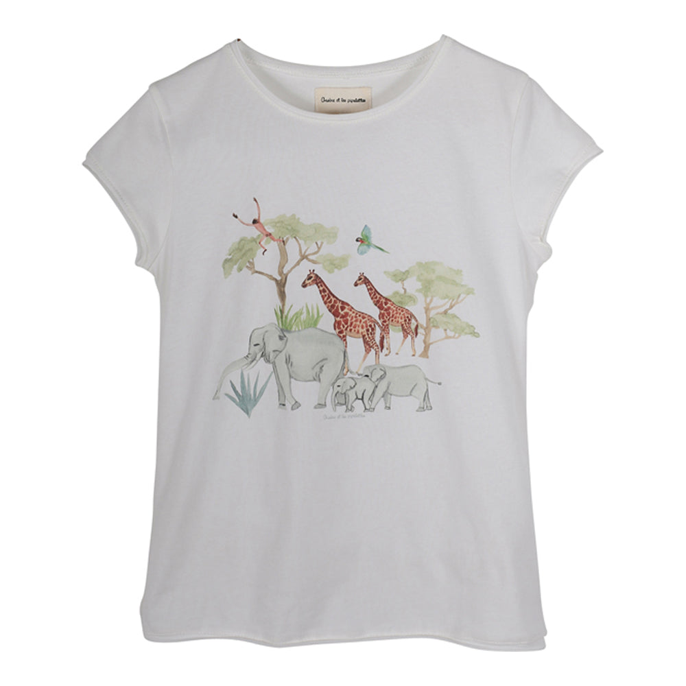 Girls Peony Jungle Family T Shirt
