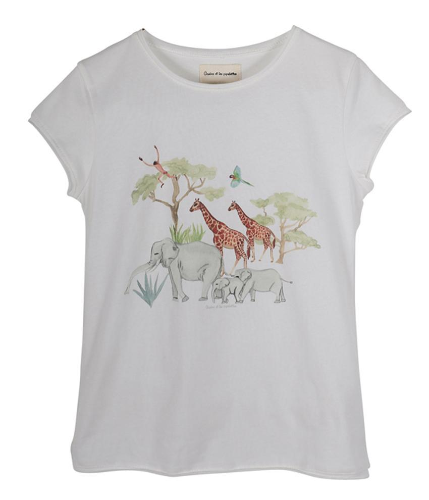 Baby Girl Peony Jungle Family T Shirt