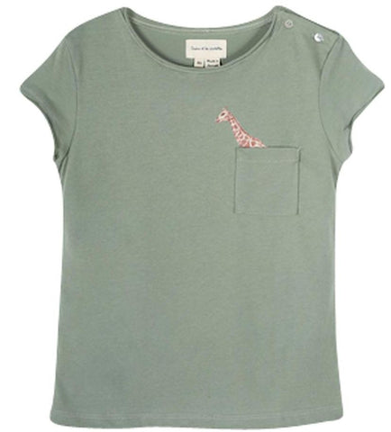 Girls Pearl Grey Parvedy Giraffe Sweatshirt