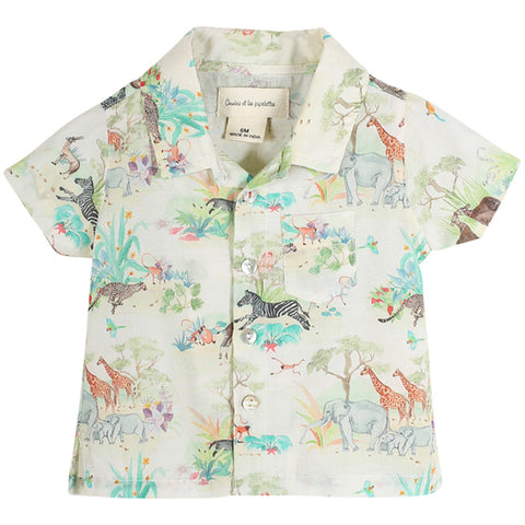 Boys Natty Flamingo Print Shirt