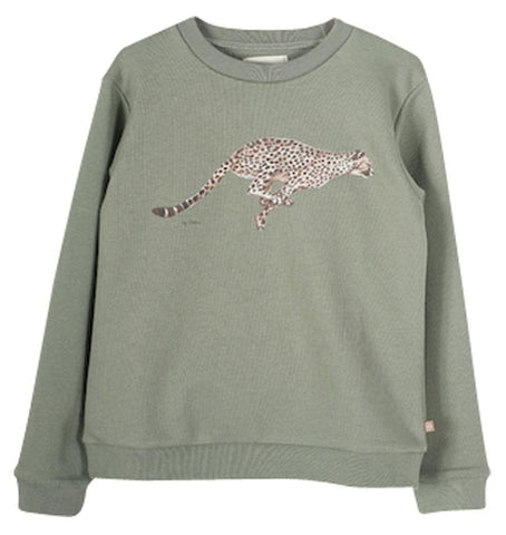 "Girls Powder Pink Pasquina ""Baroudeuse Intrépide"" Sweatshirt"
