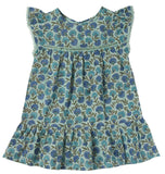 Girls Gentiane Green Flowers Dress