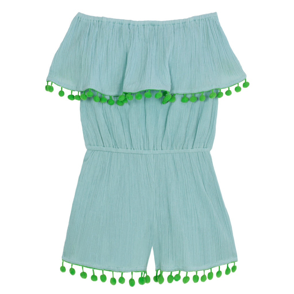 Girls Turquoise Playtime Playsuit