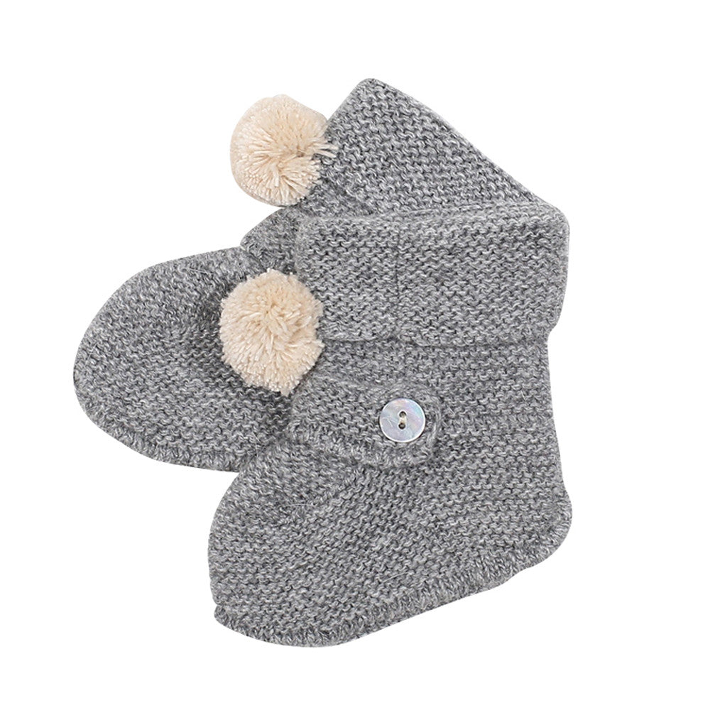 Baby Knitted Booties Joss