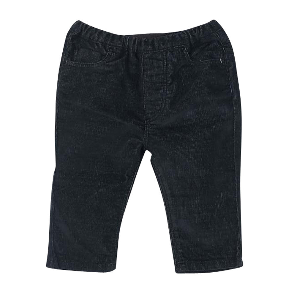 Baby Navy Blue Stretch Cord Jay Trousers