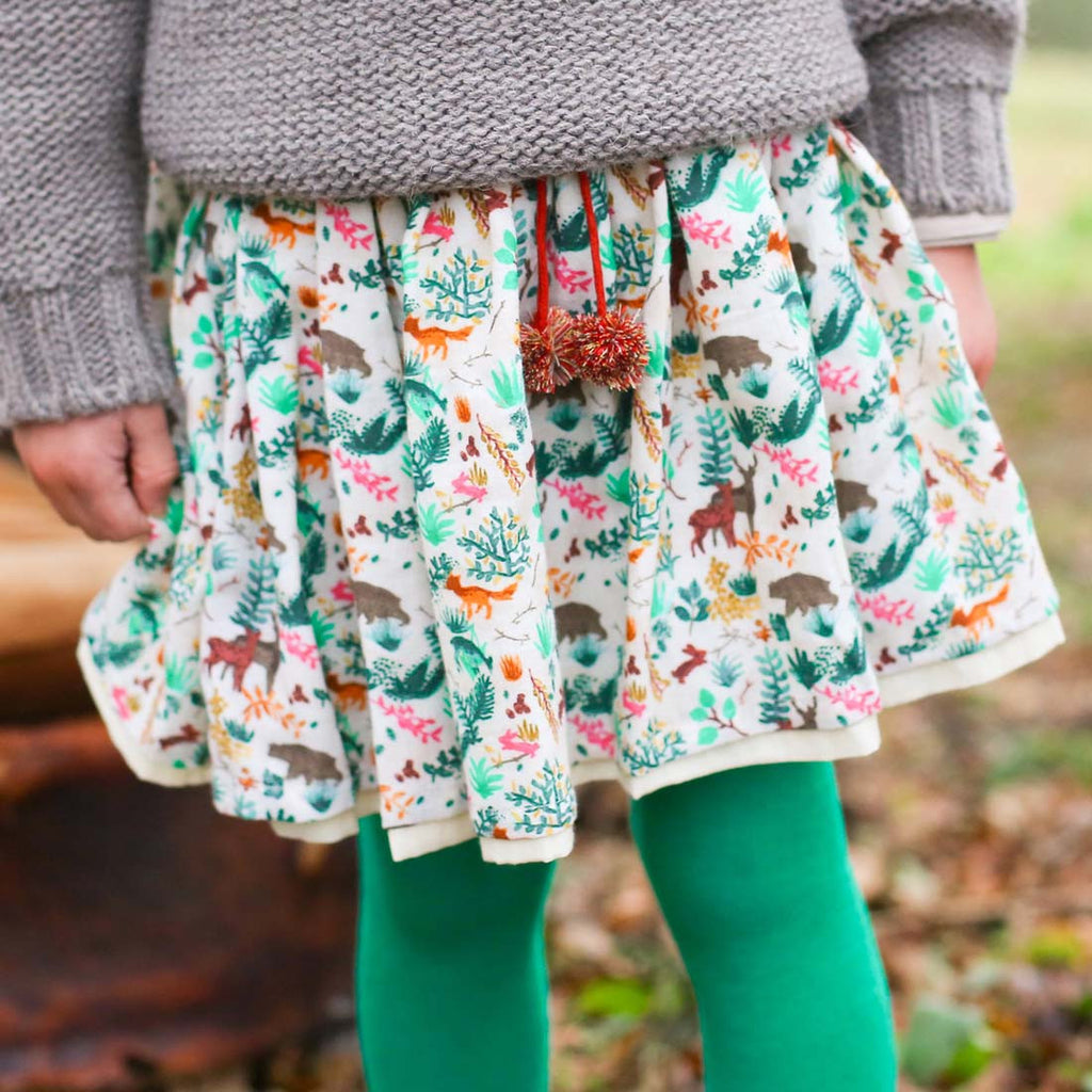 Girls Emerald Ballerina Tights