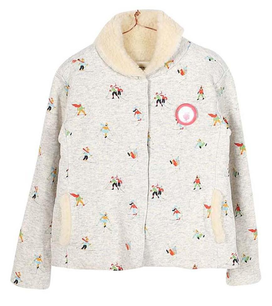 Girls Fur Lined Printed Josefina Cardigan