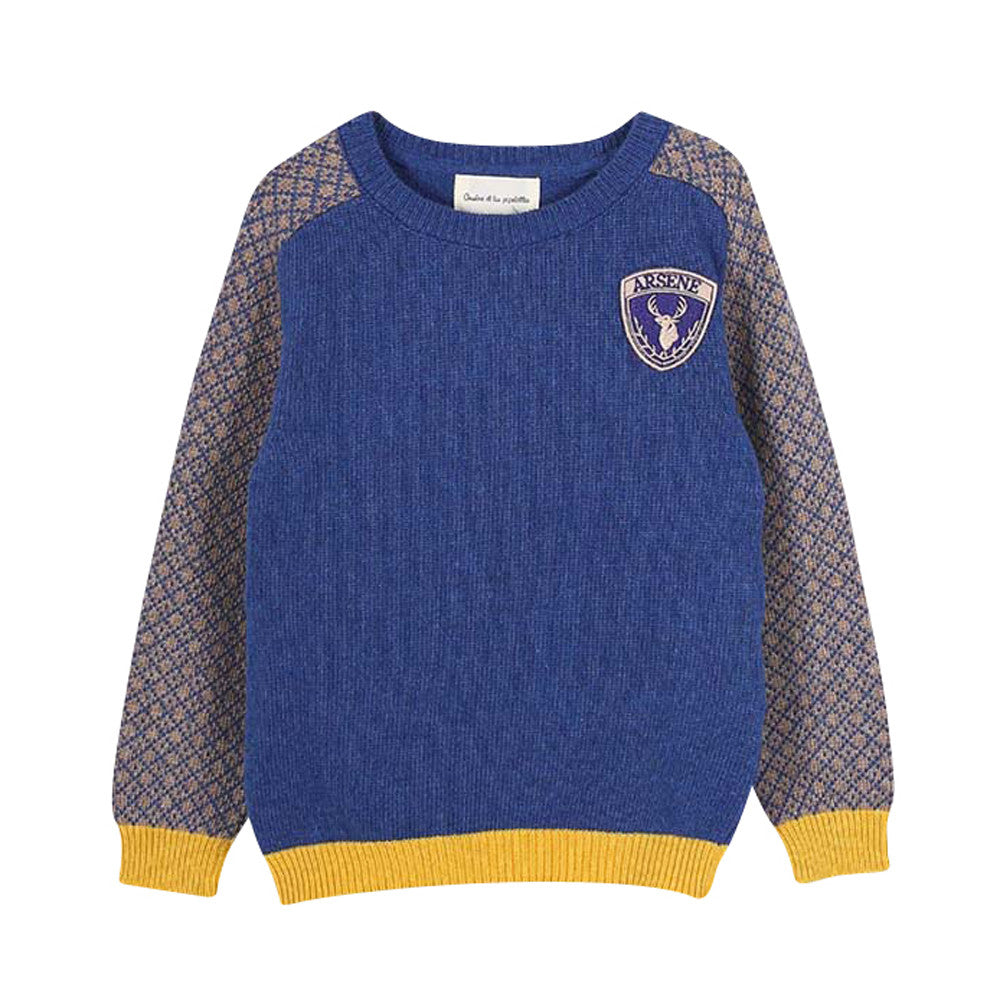 Boys John Two Tones Jacquard Jumper