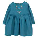 Girls Maessa Petrol Blue Dress