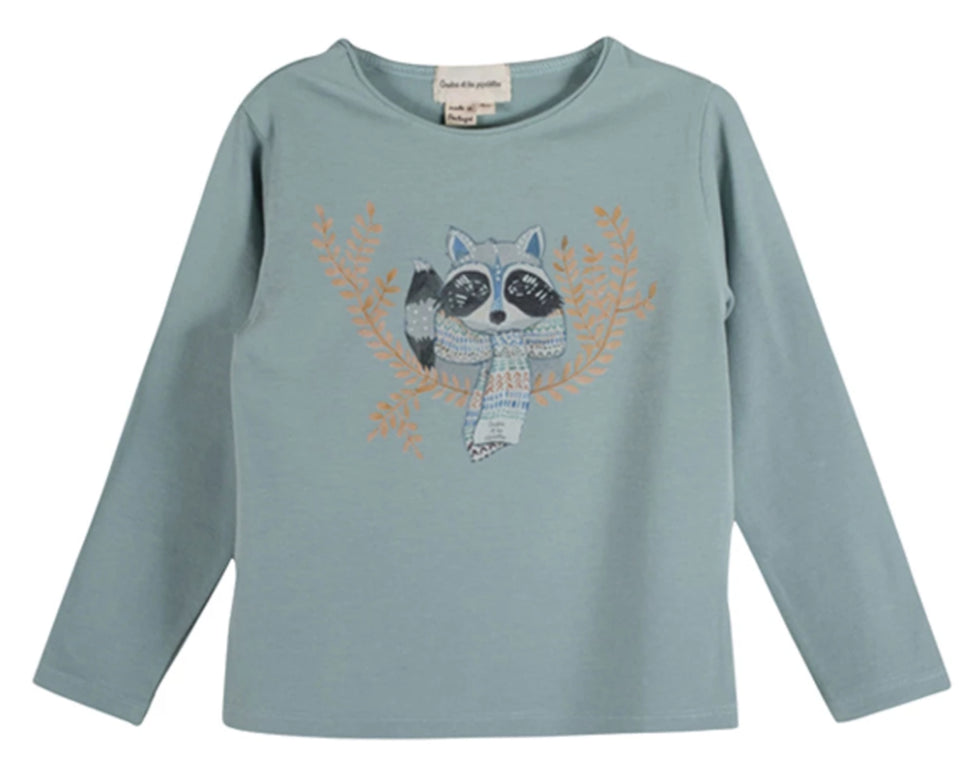 Girls Merry Racoon T Shirt