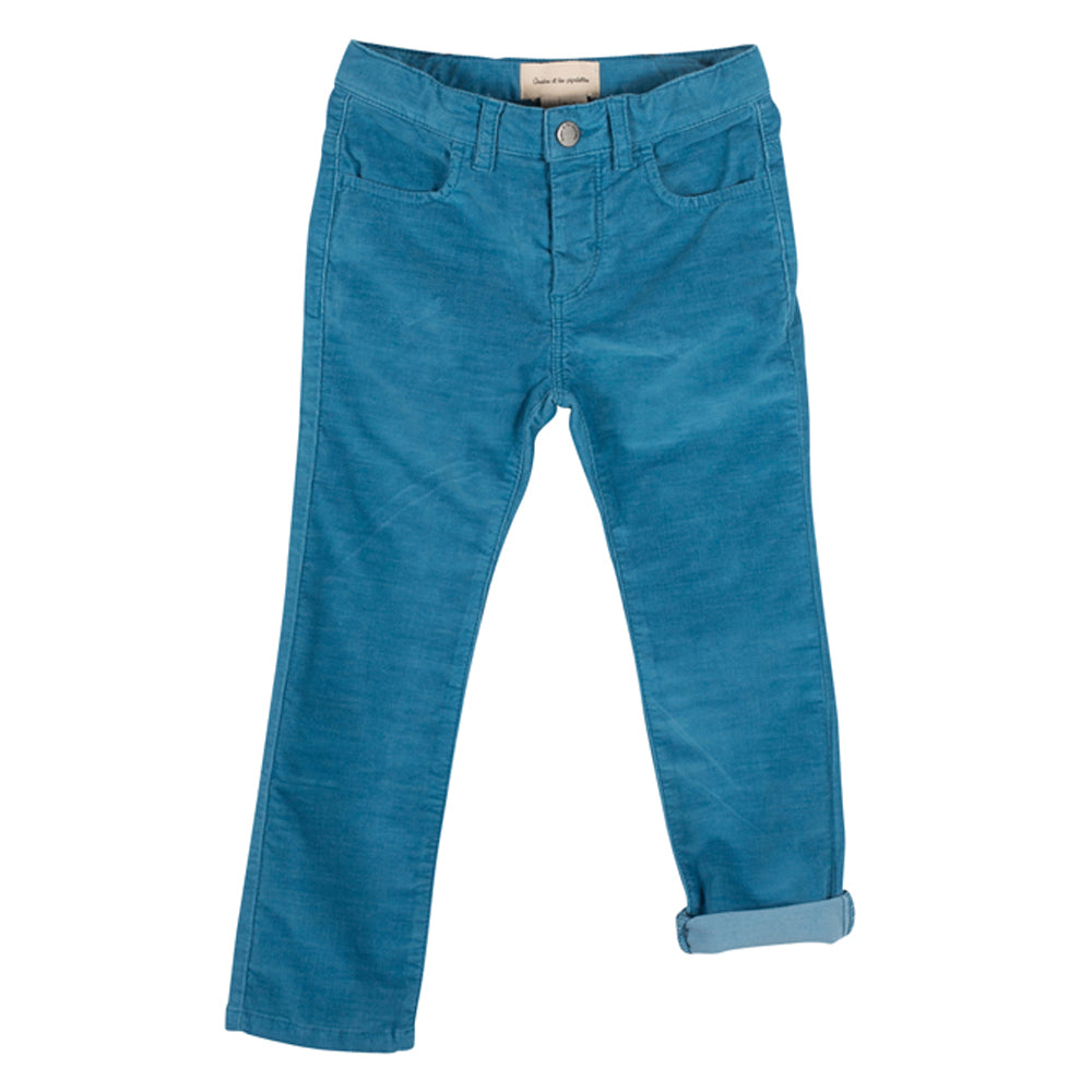 Boys & Girls Marc Blue Corduroy Trousers