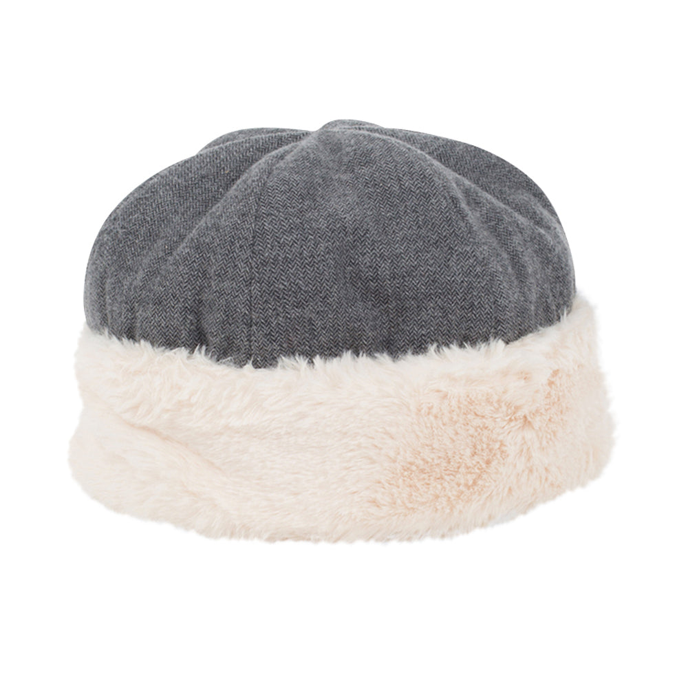 Girls Grey Furry hat