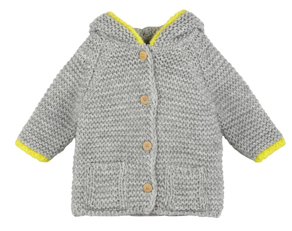 Baby Boys & Girls Grey Hooded Romane Cardigan