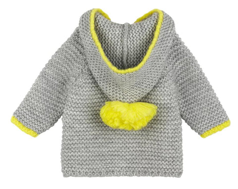 Baby Girl Duck Blue Cardigan