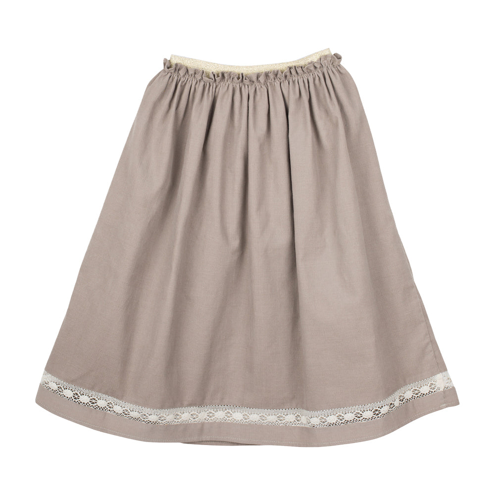 Girls Rosalia Corduroy Hazelnut Skirt